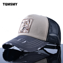TQMSMY Embroidery Cat Trucker Cap men Snapback caps Breathable Mesh Baseball Cap Women sun Hats For Men Unisex Hip Hop Casquette(China)