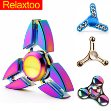 Buy Crab Tower Fidget Spinner Hand Metal Figet Spiner Tri Spinners Anti Stress Stickers Skinner handspinner Toys Kid Children for $2.99 in AliExpress store