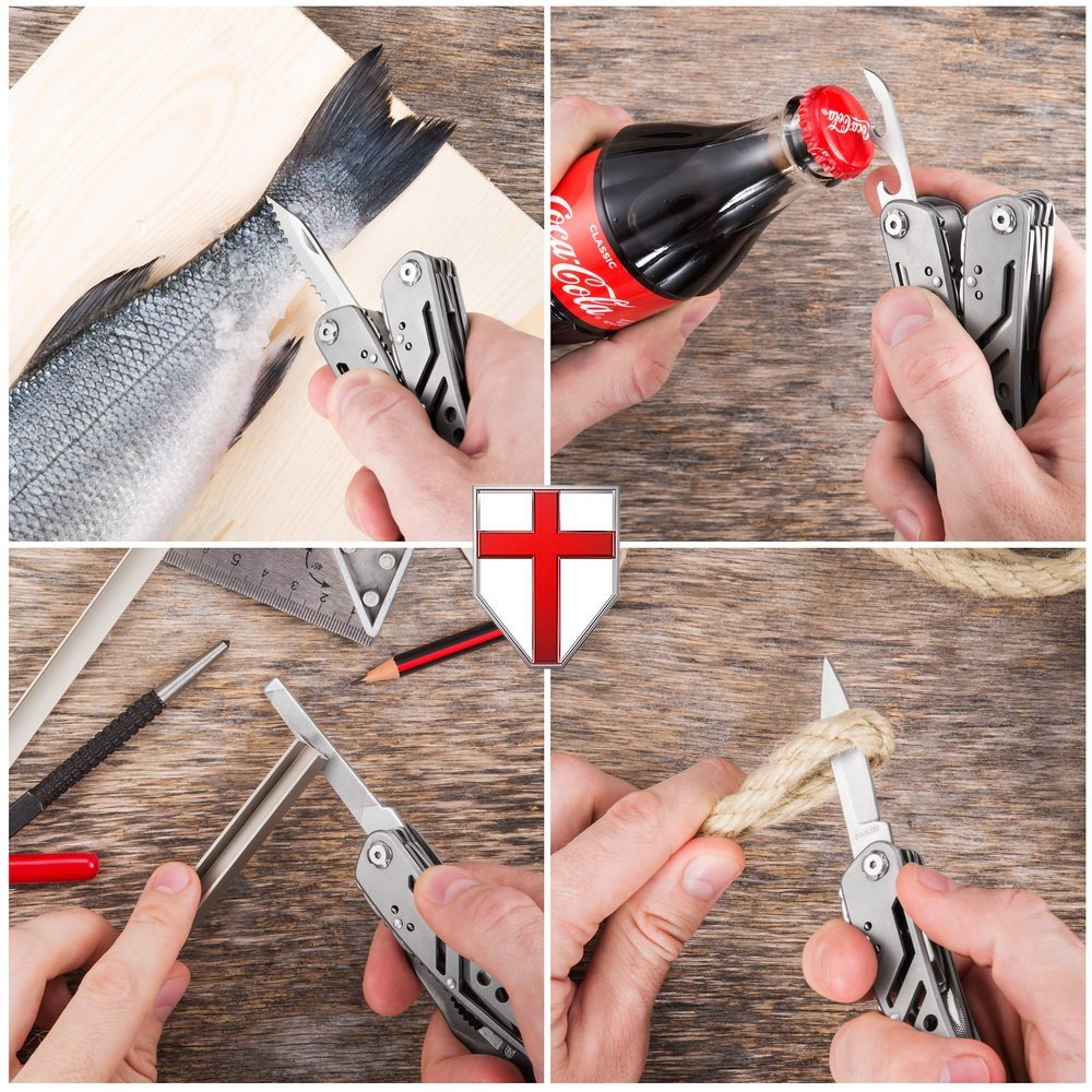 EDC Multitool with Mini Tools Knife Pliers Swiss Army Knife and Multi-tool kit for outdoor camping equipment (4)
