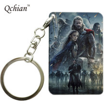 Hot Movie Thor Series Printed Car Keychain for Man Keyring Pretty Nice Gift Pictures can be Customized