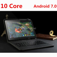 LSKDZ 10 inch Original 4GB+64GB/128GB Anroid 7.0 SIM card  Deca Core CE Brand WiFi FM new 3G 4G Phone Call laptop Tablet