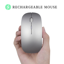 Bluetooth Mouse for Macbook Air Pro,for Win10/Mac Laptop Computer Wireless Mouse Rechargeable Mute Silent Optical Gaming Mouse(China)