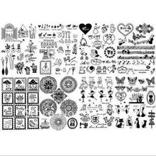 4 design mix zakka heat transfer painting film,vintage style patchwork &DIY fabric stickers/patches,freeshipping