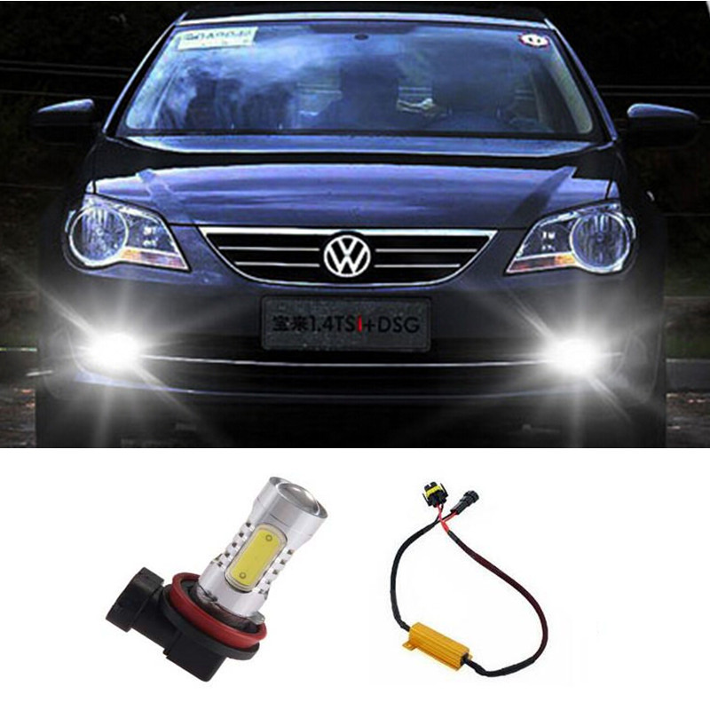 1pcs COB 7.5W No Error Auto Fog Light Driving Lamp For Volkswagen Golf 6 MK6 2009-2012 Scirocco 08-on T5 Transporter 2003-2016<br><br>Aliexpress