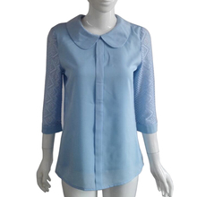 Mara Alee women blouses summer 2017 blusas mujer crochet lace tops blue women shirts tops plus size clothing WE042