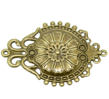 Doreen Box Lovely 30PCs Antique Bronze Filigree Flower Wraps Connectors Embellishments Findings 6.6x4.6cm (B18678)(China)