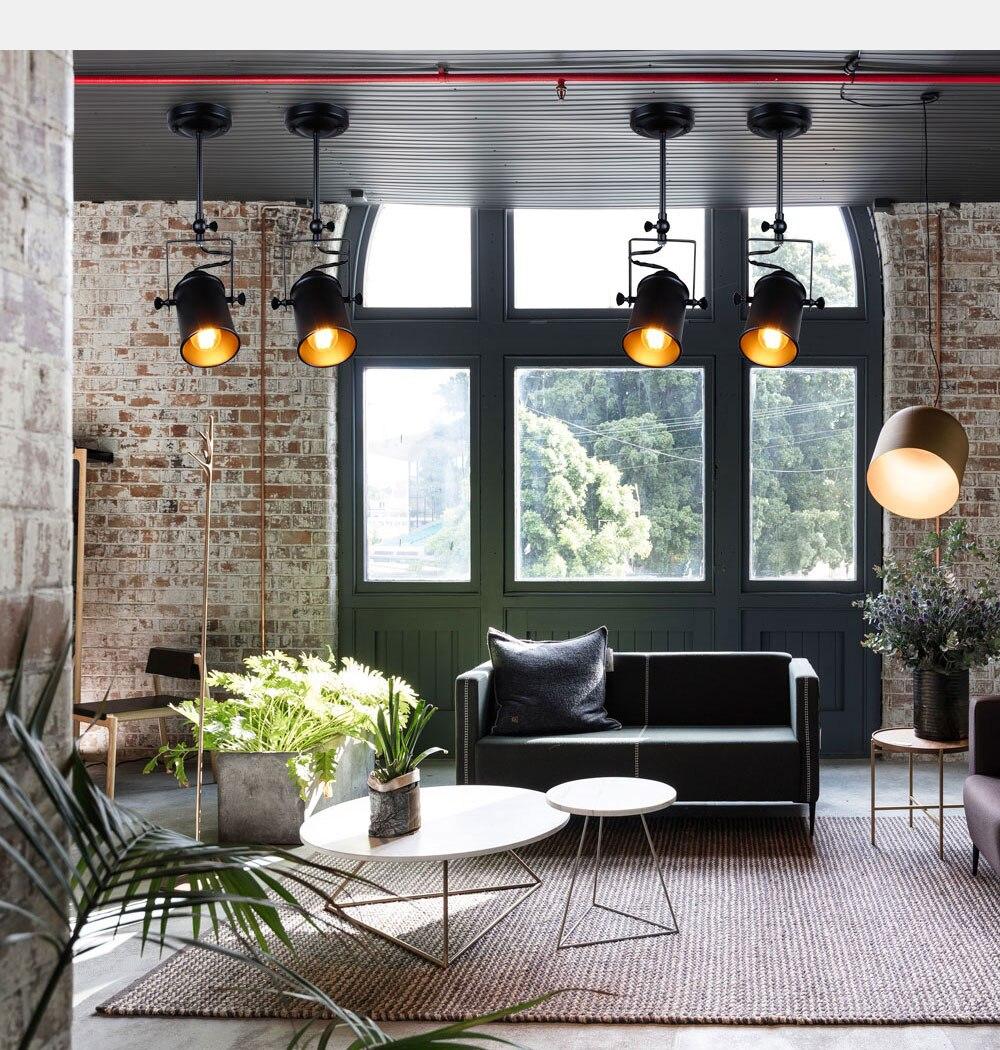 Industrial Pendant Light Vintage Loft pendant light Spotlights American pendant Lamp LED Lamp Restaurant cafe bar decoration 6