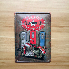 "SP-15X21-053 NEW 2015 metal vintage tin signs "" motorcycle service "" home decor bar pub wall art craft metal painting15x21CM(China)"