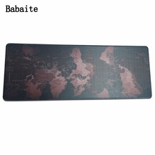 Babaite Super large XL Mouse pad world Computer table mats rubber computer game tablet Mouse mat with edge locking Size 300*900