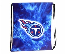 Tennessee Titans Drawstring Bags Men Backpack Digital Printing Pouch Customize Bags 35*45cm Sports Fan Flag(China)