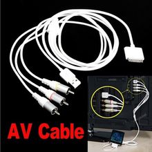 New For Apple iPhone 4 4S iPad 2 3 USB AV TV RCA Composite Audio Video Cable FC