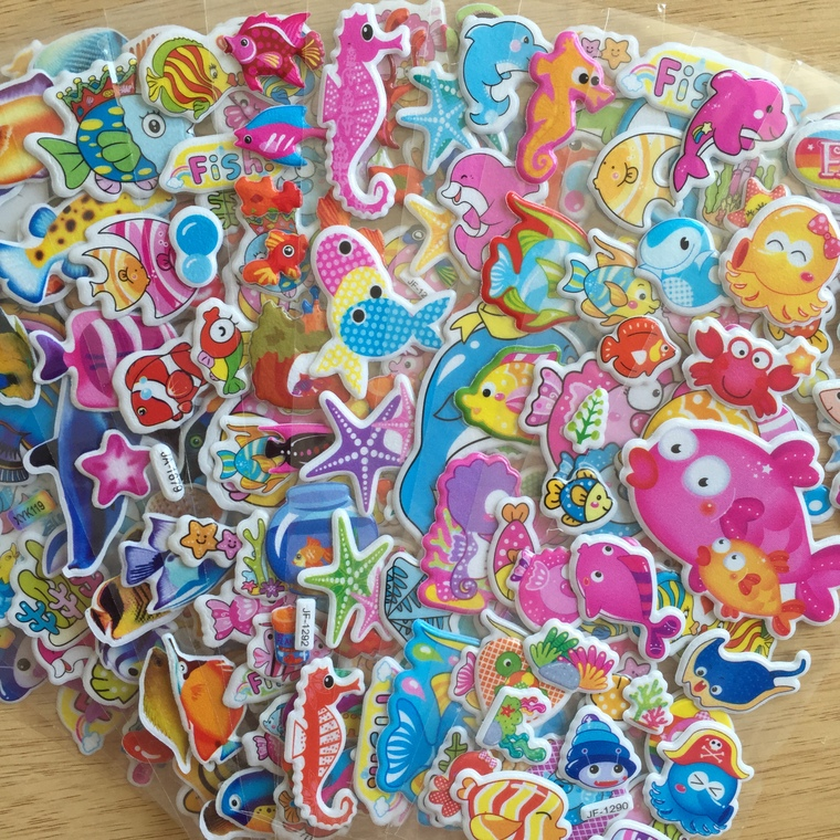 4 3D Kids PVC Puffy Cartoon Eyes Sticker Scrapbooking sticker Birthday gifts