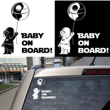 Funny Car Styling Auto Sticker Star War BABY ON BOARD Warning Reflective Vinyl Wall Home Decal For VW BMW Audi Honda Toyota Ford