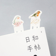 6 set/Lot Various bird bookmark Paper clip bookmarks for book marker Stationery items Office  School supplies marcalibros FC676