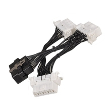 OBD 2 OBD2 OBD II Splitter Extension Y cable 1 To 3 Female 16 Pin Diagnostic Connector(China)