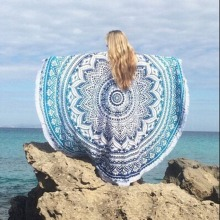 Large Microfiber Reactive Printed Round Beach Towel Serviette De Plage Toalla Playa Beach Swim Towel 150cm AA