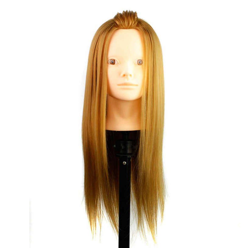 High Quality Gloden 18 CuttingTraining Head without makeup High Temperature Fiber and Animal Hair Hairdressing Female Mannequin<br><br>Aliexpress