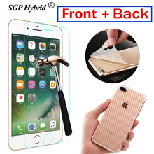 2Pcs Front+Back For iphone 7 6 plus Case Protective Tempered glass For iphone 6 5c SE 6S 7 plus Glass Screen Protector Flim Case(China)