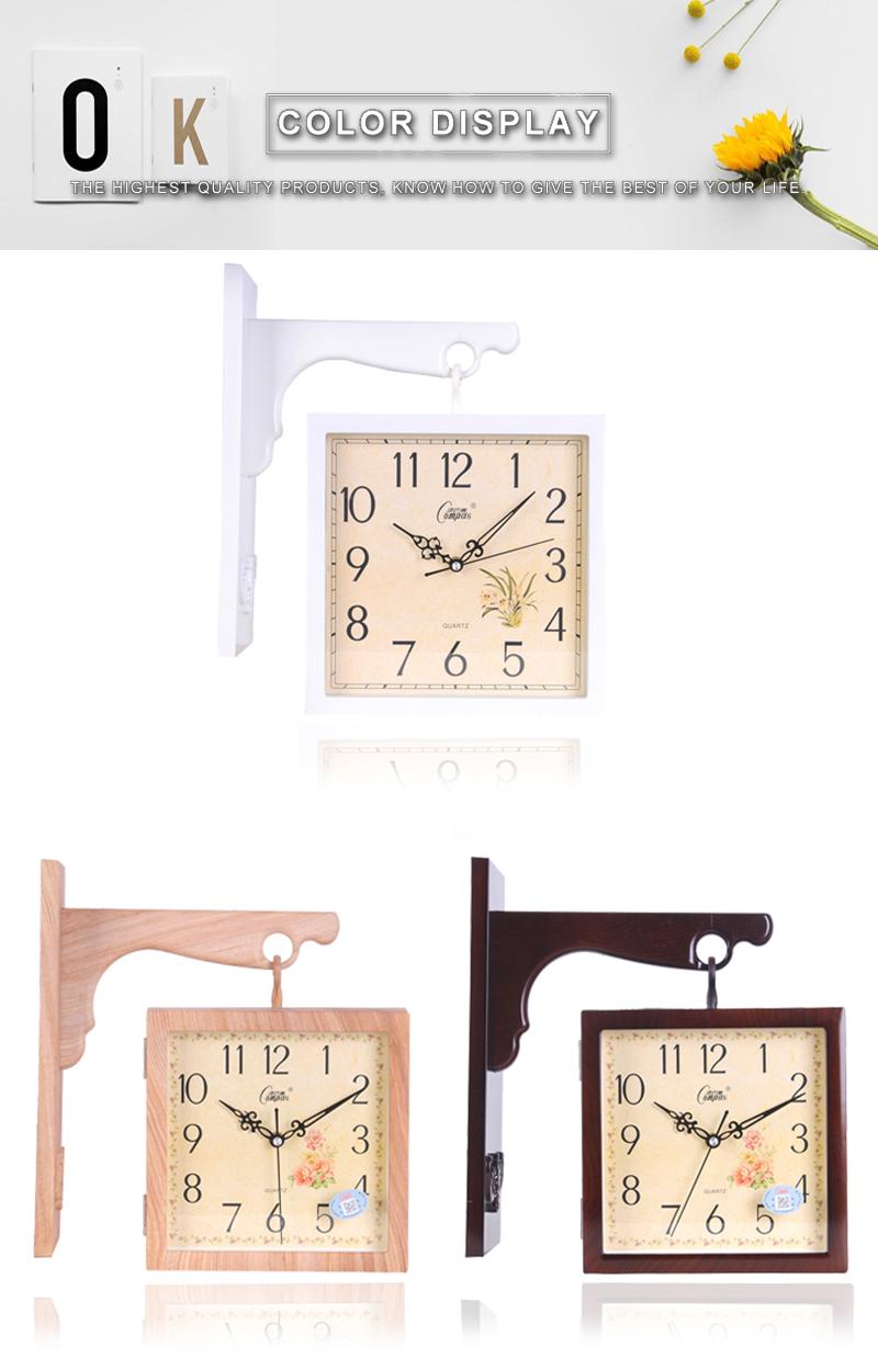 Wall Clock Wall Clock Wood Digital Wall Clock Led 3d Led Wall Clock Barber Shop Modern Clock Wood Clock Wall Diy Clock Watch (6)