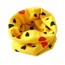 Children cartoon scarf Cotton autumn Winter Boys Girls Collar Scarf lovely heart Cotton O Ring Neck Scarves 7 colours 40*37cm