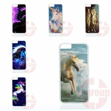 UNICORNS PEGASUS dragonBlue Glow For Apple iPhone 4 4S 5 5C SE 6 6S 7 Plus 4.7 5.5 iPod Touch 4 5 6 Hard PC Skin accessories