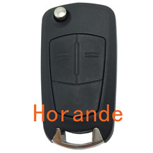 Replacement car entry key cover for Opel astra key 2 buttons flip remote key shell fob