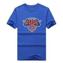 2017 Men New York #25 Derrick Rose T-shirt Tees Short Sleeve T SHIRT Men's Fashion logo W1207013