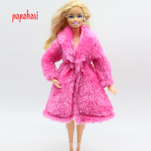 original rosy dress for barbie doll clothes dress clothes Winter coats