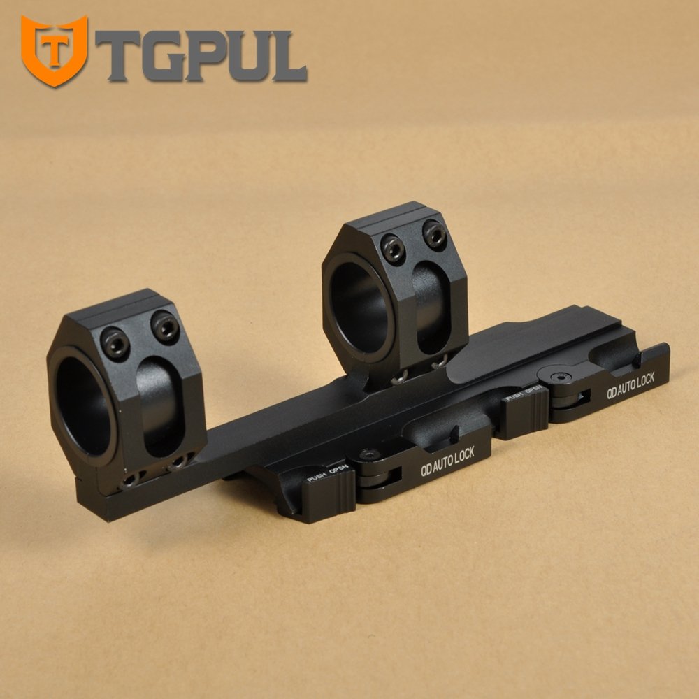 TGPUL Hard Duty Rifle Square Stop Pin Scope Mount 30mm 25mm Rings with QD Auto Quick Release Detach for 20mm Picatinny Rail <br>