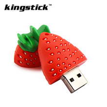 USB 2.0 pendrive strawberry style usb flash drive u disk 4G 8G 16G 32G 64G memory stick pendrives funny Gifts