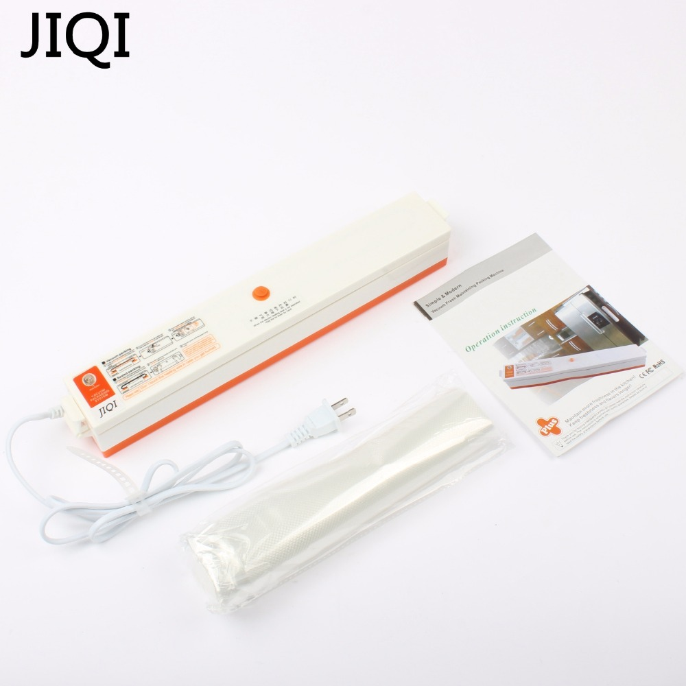 JIQI Full-automatic Food Packing Machine Household Vacuum Sealer 220V EU US Plug 15pcs Vacuum Bags Free Provided 220V 110V <br>