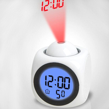LED Projection Alarm Clock Toy Smart Clock Digital Electronic Sound Luminous Toy Table Study Children Adult Light Up Night Fun