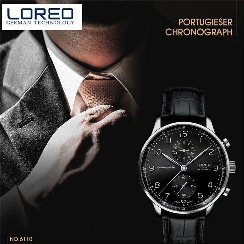 LOREO Men Watches Brand Ultra Thin Genuine Leather Clock Male 50m Waterproof Casual Sport Watch Men Wrist Quartz Watch M34<br>