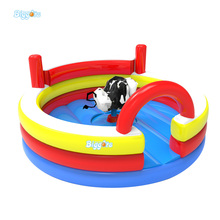 Cheap Inflatable Mechanical Bull Inflatable Rodeo Bull Riding Machine Game Juego Inflables For Sale