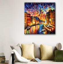 high quality 100% handmade VENICE - GRAND CANAL by Leonid   huge  venice italy oil painting on canvas home decors