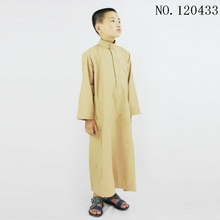 Abaya for Kids Washed velvet mannen abaya stand collar boys robe free shipping mens thobe 10 pieces/lot 120433(China)