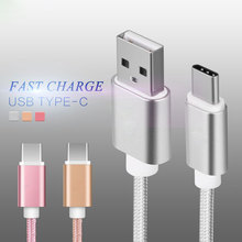 USB Type-c data charger cable for huawei xiaomi High-Speed sync charging Nylon cables for letv meizu Micro USB3.0 type c cables