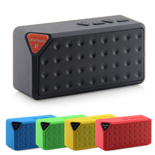 Portable Wireless Mini X3 Bluetooth Speaker USB Input Sports Music Sound Box Loundspeaker Support TF FM Radio for Iphone Xiaomi(China)