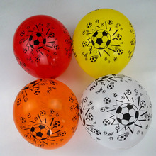 35pcs New latex balloons Printed  playing football Balloon 12'' round red white yellow red Birthday Party  Celebration balloons