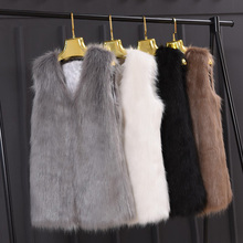 봄 밍크 Faux Fur Coat Vest 캐주얼 Warm 겨울 Jacket Slim futerko Soft fur Jacket меховые жилет casaco feminin(China)