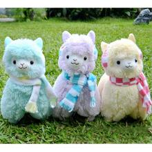 45cm Japan Alpaca Toy Giant Plush Toys Wearing Earflap Alpaca Plush Toys Kids Alpaca Christmas Gifts 5 Colors(China)
