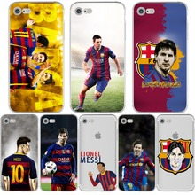 Messi Phone Cases FC Barcelona Football Jersey for iphone 5s 7 6 6s 5 se 6splus 7plus Coque Soccer Soft Silicon tpu Fundas Cover