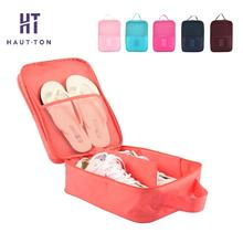 Nylon Shoes Storage Bag Solid Color Sorting Shoes Pouches Portable Organizer Pouches More Color For Choose(China)