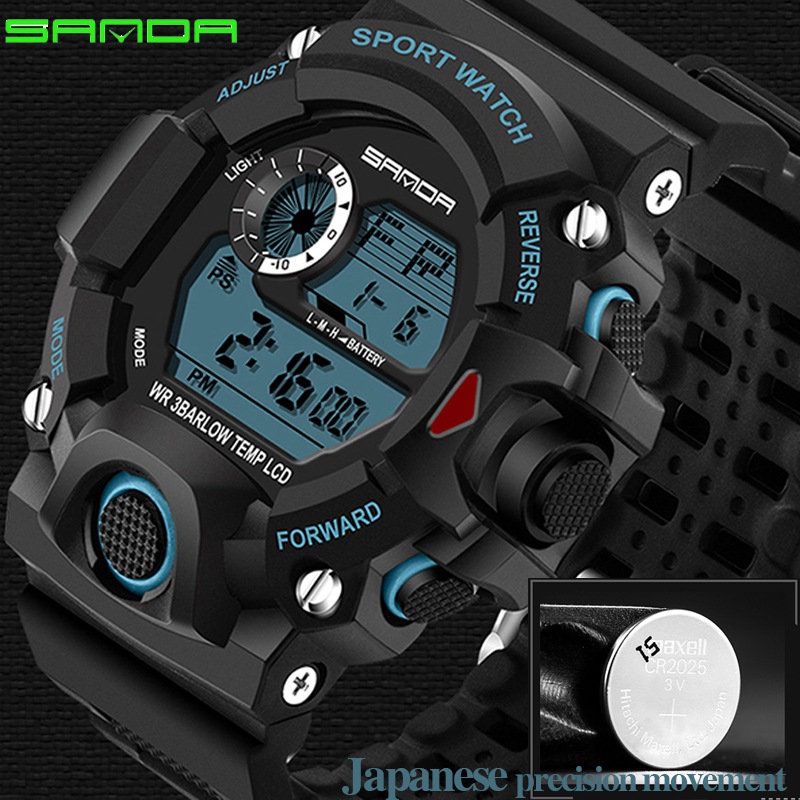 NEW Brand Fashion Mens Sport Watch LED Quartz Army Military watches 30bar Dive Swim Outdoor Wristwatches relogio masculino 2017<br><br>Aliexpress