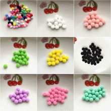 500pcs Approx 8mm Multi Color Pompom Fur Craft DIY Soft Pom Poms Wedding Decoration/Sewing On Cloth Accessories Free Ship(China)