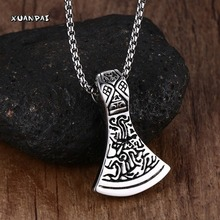 Mprainbow Vintage Norse Viking Scandinavian Necklace Pendant Thor Odin Loki Asgard Stainless Steel 24inch Chain