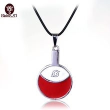 wholesale lot Hot Anime Naruto necklace 2016 Sasuke Uchiha family marks red round coin pendant necklace choker jewelry