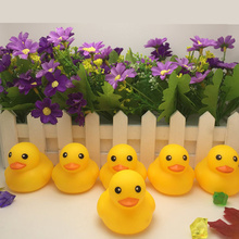 10 PCS New Lovely Yellow Duck Baby Kids Race Bath Floating Squeaky Rubber Duck Toys