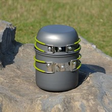 Outdoor Camping Hiking Cookware Backpacking Ultra-light Carrying Pot Tableware For Picnic Pot Pan ZX05