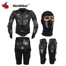 HEROBIKER Motorcycle Body Protection Motocross Racing Full Body Armor+ Gears Short Pants+Motocycle Knee Pad Motorcycle Armor(China)